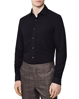 REISS - Fallen Crepe Solid Slim Fit Shirt