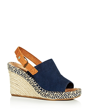 Toms Sandals WOMEN'S MONICA SLINGBACK WEDGE ESPADRILLE SANDALS