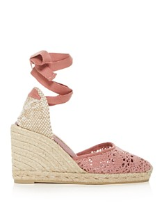 Castañer - Women's Carina Ankle-Tie Espadrille Wedge Sandals