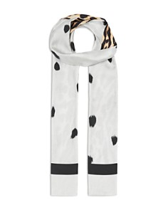 Burberry - Animal Print Silk Skinny Scarf