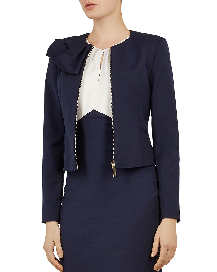 Ted Baker - Working Title Zamelii Bow-Detail Jacket