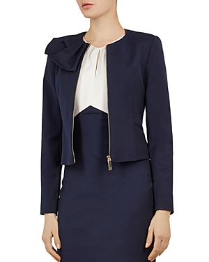 Ted Baker WORKING TITLE ZAMELII BOW-DETAIL JACKET