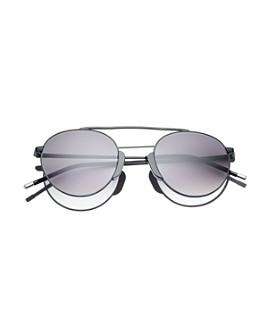 Dick Moby - Women's Bern Brow Bar Round Sunglasses, 49mm