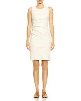 4b049a8338 HALSTON HERITAGE - Ruched Tweed Sheath Dress ...