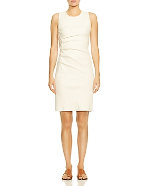 Halston Heritage Dresses RUCHED TWEED SHEATH DRESS