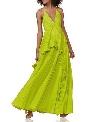 HALSTON HERITAGE - Pleated Dress