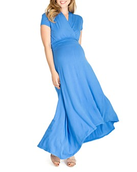 Nom Maternity - Caroline High/Low Maxi During & After Dress