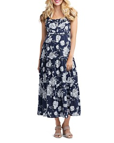Nom Maternity - Emma Tiered Floral During & After Dress