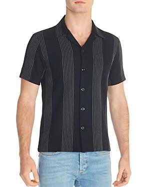 Sandro Striped Knit Slim Fit Shirt