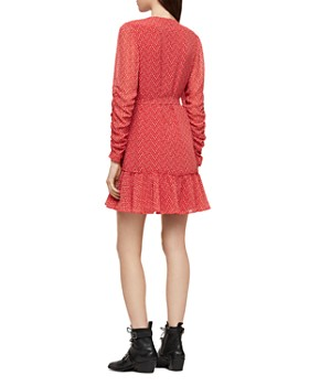 ALLSAINTS - Flores Heart Print Wrap Dress
