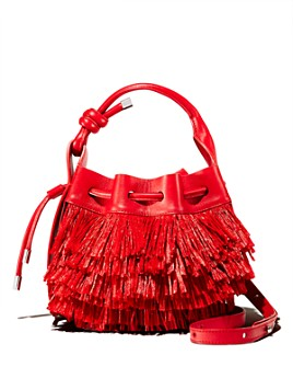 Behno - Ina Mini Raffia Fringe Bucket Crossbody - 100% Exclusive