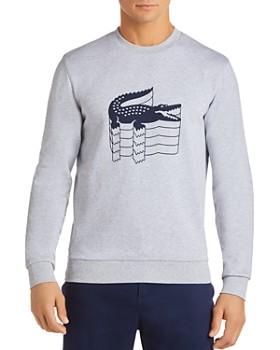 Lacoste - Stacked Logo Graphic Fleece Sweatshirt