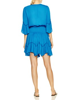 bc84994b644 ... HALSTON HERITAGE - Ruffle-Trimmed Blouson Dress