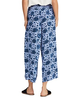 Free People - Printed Cropped Wide-Leg Pants