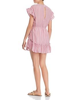 The Fifth Label - Kite Ruffled Inset-Stripe Mini Dress