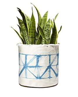 Plant Sax - Indigo Shibori Sax Plant Vessel