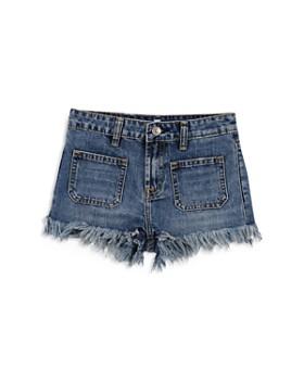 7b8fa1e9311c 7 For All Mankind - Girls  Frayed Hem Denim Shorts - Big Kid