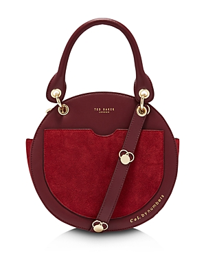 Ted Baker SUNNIE LEATHER & SUEDE CIRCLE CROSSBODY