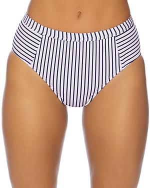 Splendid Thin Blue High-Waist Bikini Bottom