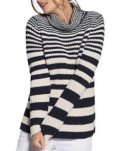 BASLER - Striped Cotton Turtleneck Sweater