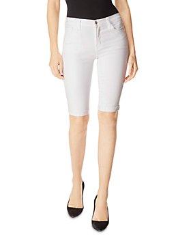J Brand - 811 Denim Bermuda Shorts in Blanc