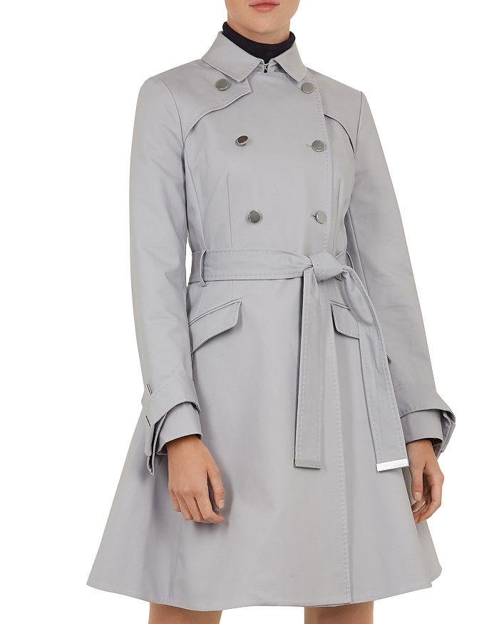 Ted Baker - Marrian Knotted-Cuff Trench Coat