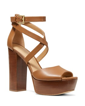 73000f1db2b MICHAEL Michael Kors - Women s Burke Leather Platform Sandals ...