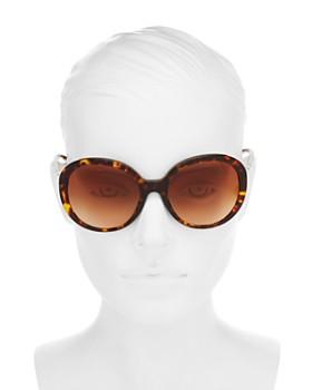 fb0da48b987da ... 57mm Burberry - Women s Check Round Sunglasses