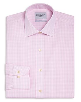 Ledbury - Gingham Poplin Slim Fit Dress Shirt