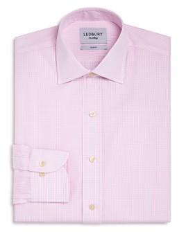 Ledbury - Gingham Poplin Slim Fit Dress Shirt