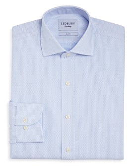Ledbury - Chapin Dot Slim Fit Dress Shirt
