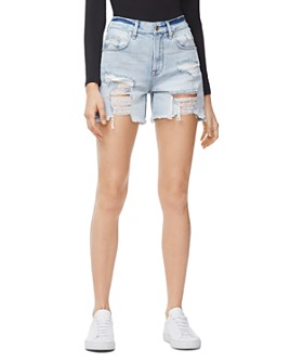 Good American - Cutoff Denim Shorts in Blue254