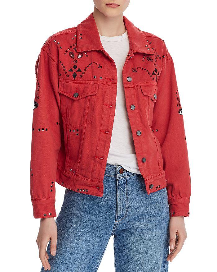 BLANKNYC - Bandana Cropped Denim Jacket