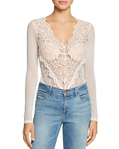 GUESS - Sariyah Sheer Lace & Mesh Bodysuit