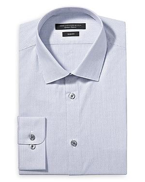 John Varvatos Dresses CHEVRON STRIPE SLIM FIT DRESS SHIRT