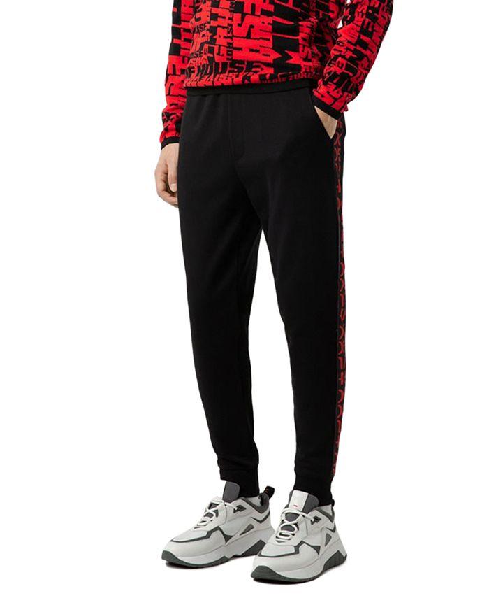 HUGO - Daky Split-Logo Side-Stripe Sweatpants