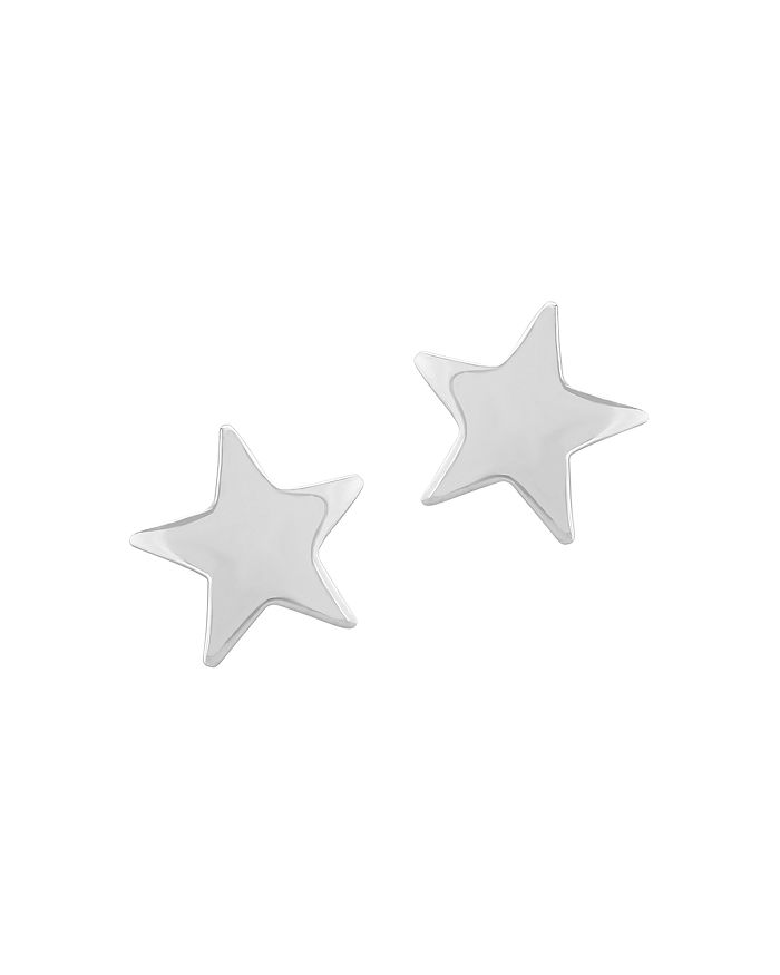 Bloomingdale's - Medium Star Earrings in 14K White Gold - 100% Exclusive