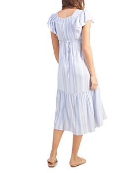 24b4a47dca455 ... Ingrid & Isabel - Maternity Flutter Sleeve Tiered Midi Dress