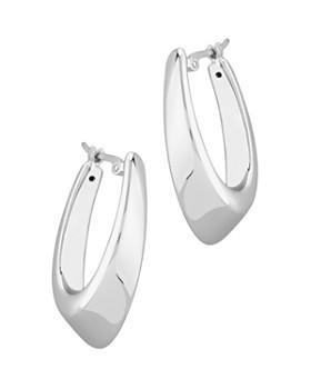 Bloomingdale's - Medium Hoop Earrings in 14K White Gold - 100% Exclusive