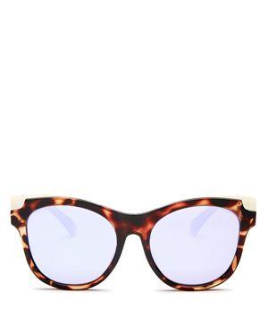 Quay Women's It's My Way Mirrored Cat Eye Sunglasses, 55mm