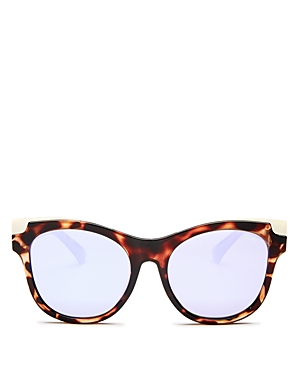Quay Sunglasses WOMEN'S IT'S MY WAY MIRRORED CAT EYE SUNGLASSES, 55MM