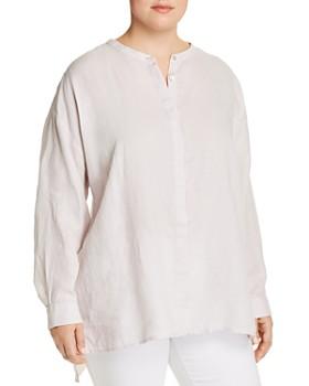 Eileen Fisher Plus - Organic Linen Button Down Top