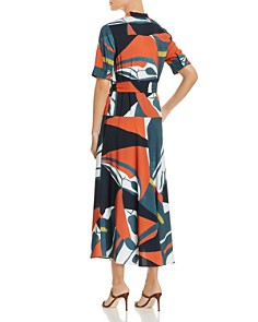 Lafayette 148 New York - Augustina Abstract-Print Belted Shirt Dress