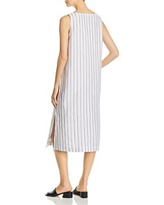 Eileen Fisher Petites - Organic Cotton Sleeveless Striped Dress - 100% Exclusive