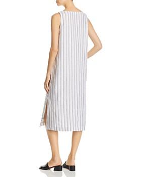 Eileen Fisher - Striped V-Neck Midi Shift Dress - 100% Exclusive