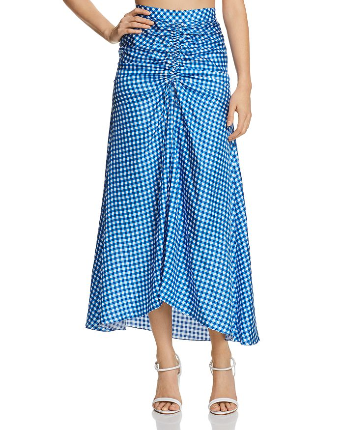 Paper London - Islamorada Silk Ruched Maxi Skirt
