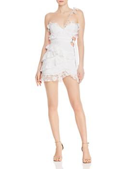 For Love & Lemons - Lucien Asymmetric One-Shoulder Mini Dress