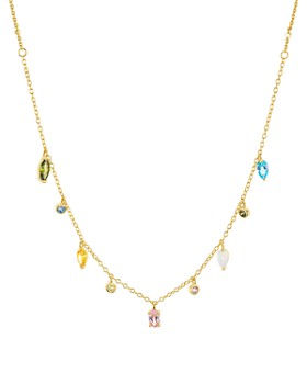 Argento Vivo - Stone Dangle Necklace in 14K Gold-Plated Sterling Silver, 16""