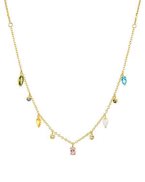 Argento Vivo Stone Dangle Necklace in 14K Gold-Plated Sterling Silver, 16