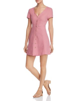 Anna Short Sleeve Button Front Dress by Vero Moda